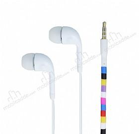 Cortrea Universal Boncuklu Mikrofonlu Beyaz Kulakiçi Kulaklık