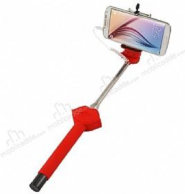 Cortrea Universal Dudaklı Tuşlu Kırmızı Selfie Çubuğu