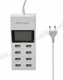 Cortrea USB Çoklu Şarj Aleti Dijital Göstergeli 8 Port Girişli