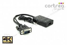 Cortrea VGA - HDMI Çevirici Dönüştürücü