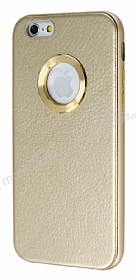 COTEetCI iPhone 6 / 6S Metal Kenarl� Gold Deri K�l�f