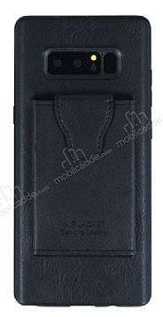 Dafoni Air Jacket Samsung Galaxy Note 8 Cüzdanlı Siyah Deri Kılıf