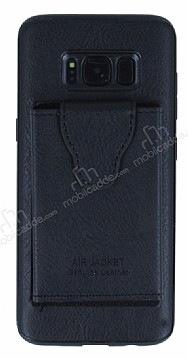 Dafoni Air Jacket Samsung Galaxy S8 Cüzdanlı Siyah Deri Kılıf
