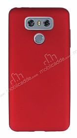 Dafoni Air Slim LG G6 Ultra İnce Mat Kırmızı Silikon Kılıf