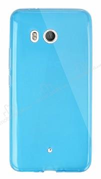 Dafoni Aircraft HTC U11 Ultra İnce Mavi Silikon Kılıf