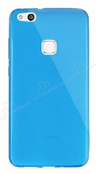 Dafoni Aircraft Huawei P10 Lite Ultra İnce Şeffaf Mavi Silikon Kılıf