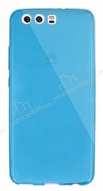 Dafoni Aircraft Huawei P10 Ultra İnce Şeffaf Mavi Silikon Kılıf