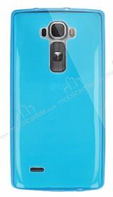 Dafoni Aircraft LG G Flex 2 Ultra İnce Şeffaf Mavi Silikon Kılıf