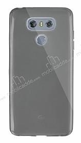 Dafoni Aircraft LG G6 Ultra İnce Şeffaf Siyah Silikon Kılıf
