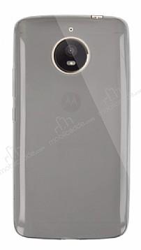 Dafoni Aircraft Motorola Moto E4 Plus Ultra İnce Şeffaf Siyah Silikon Kılıf