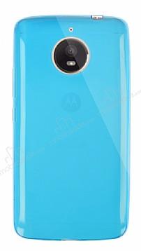 Dafoni Aircraft Motorola Moto E4 Plus Ultra İnce Mavi Silikon Kılıf