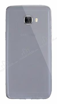 Dafoni Aircraft Samsung Galaxy C5 Pro Ultra İnce Şeffaf Siyah Silikon Kılıf