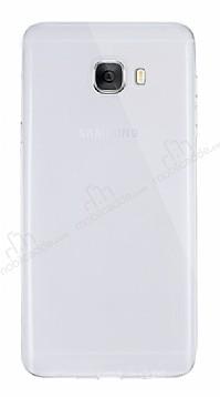 Dafoni Aircraft Samsung Galaxy C7 Pro Ultra İnce Şeffaf Silikon Kılıf
