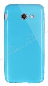 Dafoni Aircraft Samsung Galaxy J5 2017 Ultra İnce Şeffaf Mavi Silikon Kılıf
