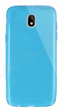 Dafoni Aircraft Samsung Galaxy J5 Pro 2017 Ultra İnce Şeffaf Mavi Silikon Kılıf
