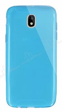 Dafoni Aircraft Samsung Galaxy J7 Pro 2017 Ultra İnce Şeffaf Mavi Silikon Kılıf