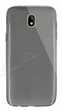Dafoni Aircraft Samsung Galaxy J7 Pro 2017 Ultra İnce Şeffaf Siyah Silikon Kılıf