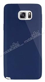 Dafoni Aircraft Samsung Galaxy Note 5 Ultra İnce Lacivert Silikon Kılıf