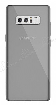 Dafoni Aircraft Samsung Galaxy Note 8 Ultra İnce Şeffaf Siyah Silikon Kılıf