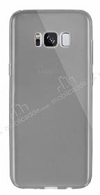 Dafoni Aircraft Samsung Galaxy S8 Ultra İnce Şeffaf Siyah Silikon Kılıf