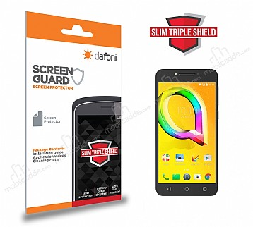 Dafoni Alcatel A5 XL Slim Triple Shield Ekran Koruyucu