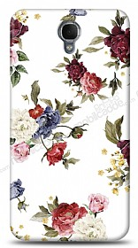 Dafoni Alcatel One Touch idol 2 OT-6037 Vintage Flowers K�l�f