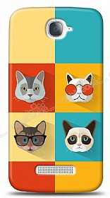 Dafoni Alcatel One Touch Pop C7 Four Cats K�l�f