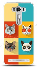 Dafoni Asus ZenFone 2 Laser 5,5 in� Four Cats K�l�f