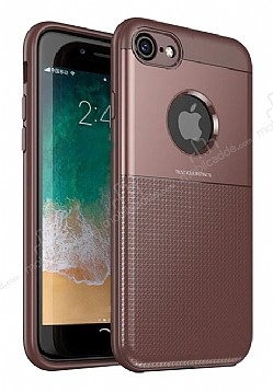 Dafoni Business Shield iPhone 7 / 8 Kahverengi Silikon Kılıf