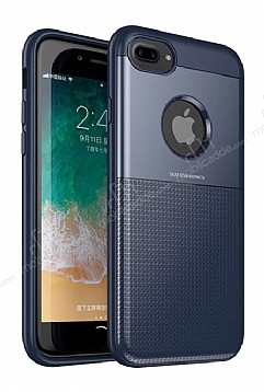 Dafoni Business Shield iPhone 7 Plus / 8 Plus Lacivert Silikon Kılıf