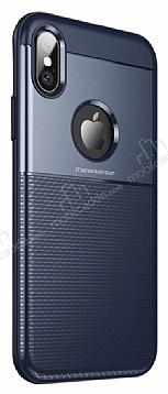 Dafoni Business Shield iPhone X Lacivert Silikon Kılıf