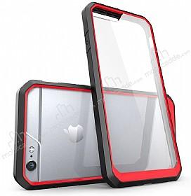 Dafoni Color Side iPhone 6 / 6S Kristal Kırmızı Kılıf