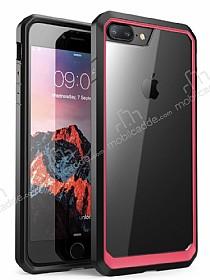 Dafoni Color Side iPhone 7 Plus / 8 Plus Kristal Pembe Kılıf