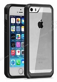 Dafoni Color Side iPhone SE / 5 / 5S Kristal Siyah Kılıf