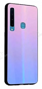 Dafoni Colorful Samsung Galaxy A7 2018 Cam Pembe Kılıf