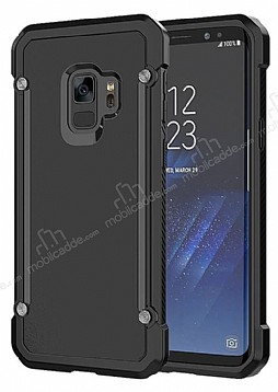 Dafoni Duro Samsung Galaxy S9 Plus Ultra Koruma Siyah Kılıf