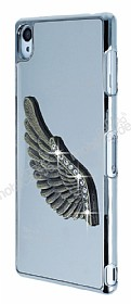 Dafoni Eagle Wings Sony Xperia Z3 Silver Metal Rubber Kılıf