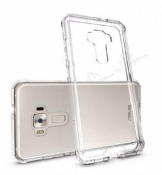 Dafoni Fit Hybrid Asus Zenfone 3 Laser ZC551KL Şeffaf Kenarlı Şeffaf Kılıf