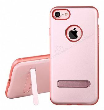 Dafoni iPhone 7 Standlı Ultra Koruma Rose Gold Kılıf