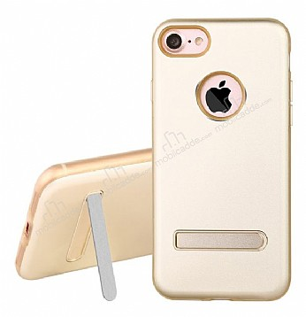 Dafoni Level Shield iPhone 7 Standlı Ultra Koruma Gold Kılıf