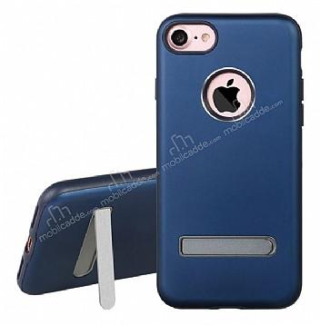 Dafoni iPhone 7 Standlı Ultra Koruma Lacivert Kılıf