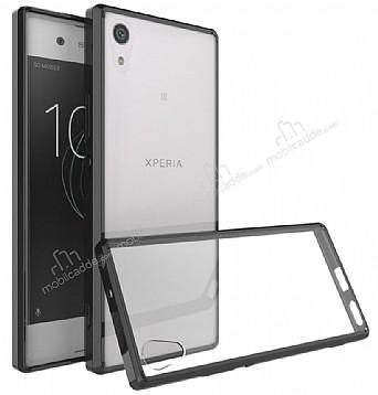 Dafoni Fit Hybrid Sony Xperia XA1 Ultra Siyah Kenarlı Şeffaf Kılıf