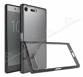 Dafoni Fit Hybrid Sony Xperia XZ Premium Siyah Kılıf