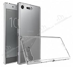 Dafoni Fit Hybrid Sony Xperia XZ Premium Şeffaf Kılıf