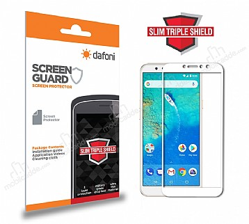 Dafoni General Mobile GM 8 Curve Slim Triple Shield Beyaz Ekran Koruyucu