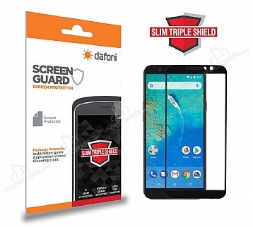 Dafoni General Mobile GM 8 Curve Slim Triple Shield Siyah Ekran Koruyucu