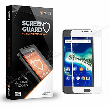 Dafoni General Mobile GM6 Curve Tempered Glass Premium Full Beyaz Cam Ekran Koruyucu