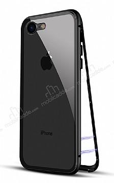 Dafoni Glass Guard iPhone 6 / 6S Metal Kenarlı 360 Derece Koruma Cam Siyah Kılıf