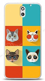 HTC Desire 610 Four Cats Kılıf