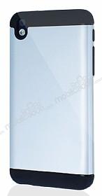 Dafoni HTC Desire 816 Slim Power Ultra Koruma Silver Kılıf